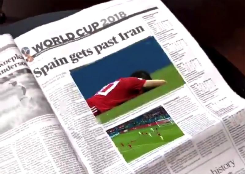 Periódico animado con ARKit2