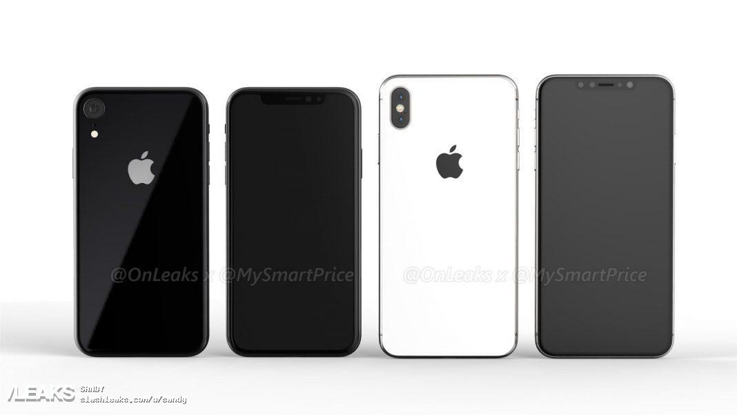 Imagen generada por ordenador del nuevo iPhone X Plus con pantalla de 6,5 pulgadas y el iPhone X 2