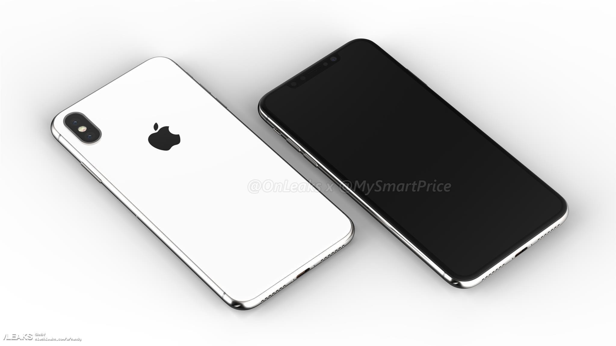 Imagen generada por ordenador del nuevo iPhone X Plus con pantalla de 6,5 pulgadas