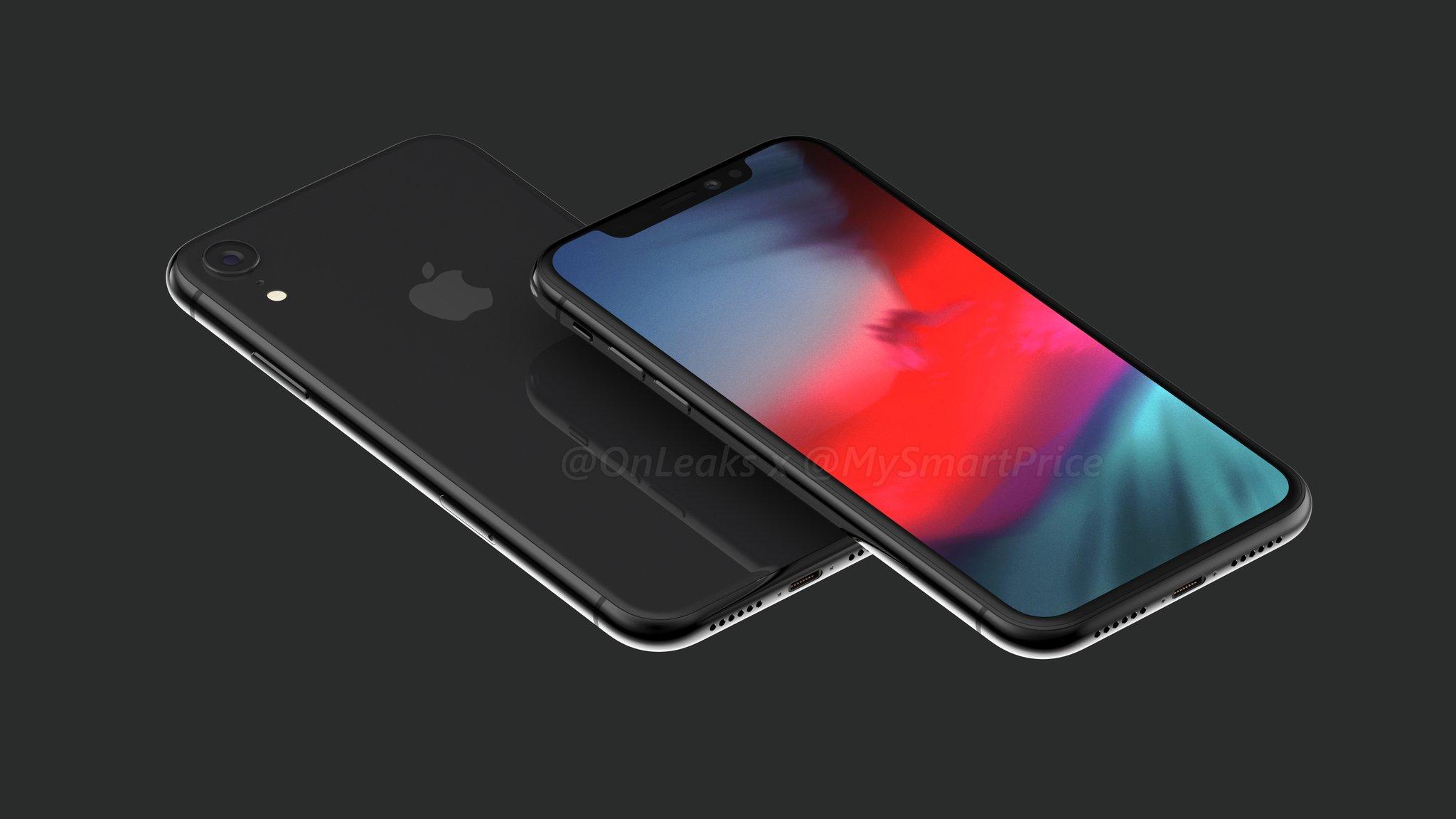Imagen generada por ordenador del N84, el iPhone X de 6,1 pulgadas del año 2018