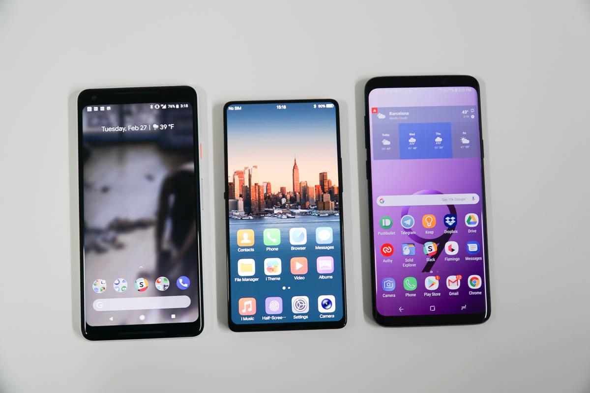 Google Pixel 2 XL, Vivo Apex, Galaxy S9+