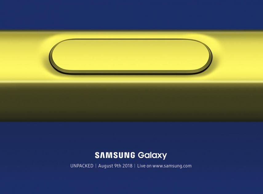 Invitación a la presentación del Galaxy Note 9