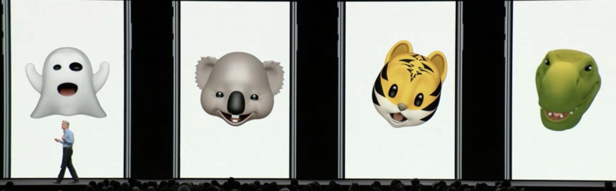 Nuevos Animojis de iOS 12