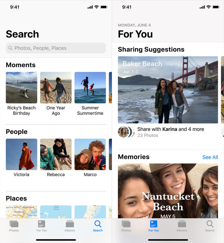 Mejoras en la App de Fotos de iOS 12
