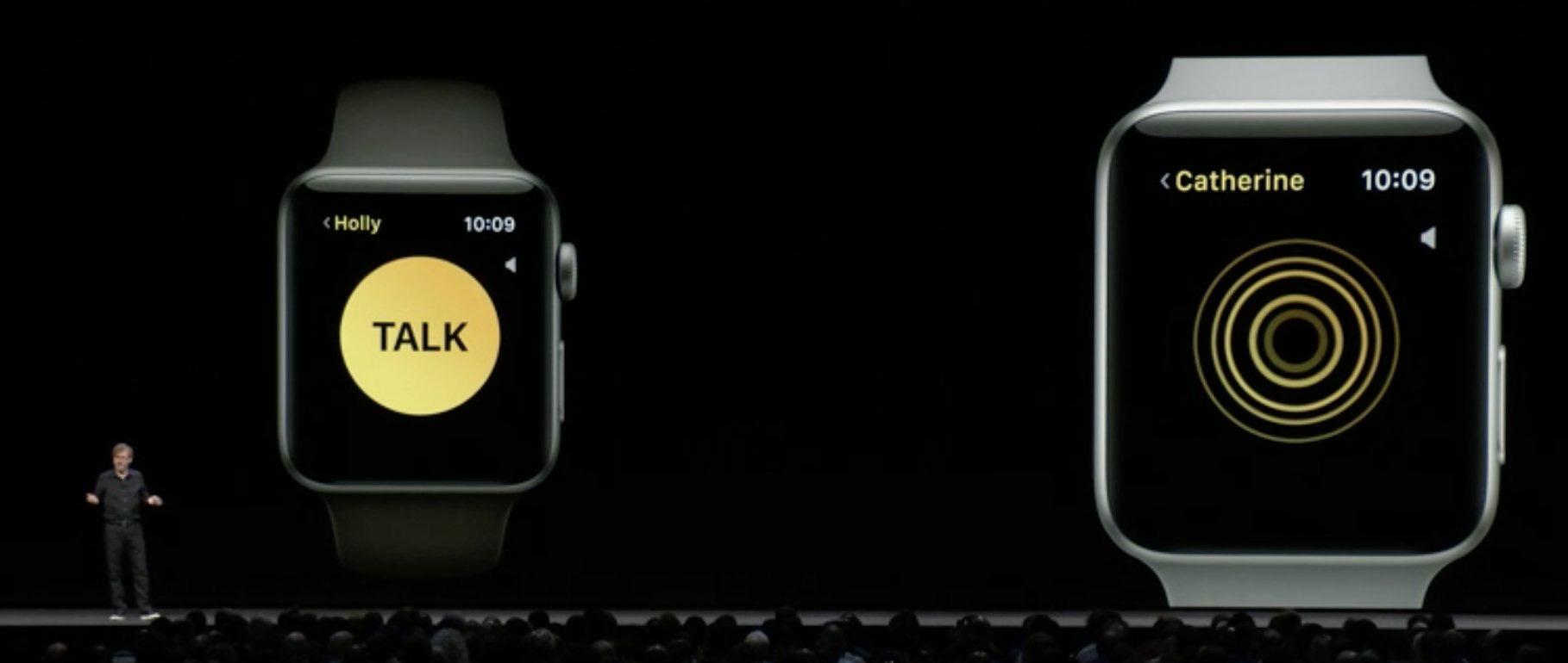 El Apple Watch utilizado como un Walkie-Talkie