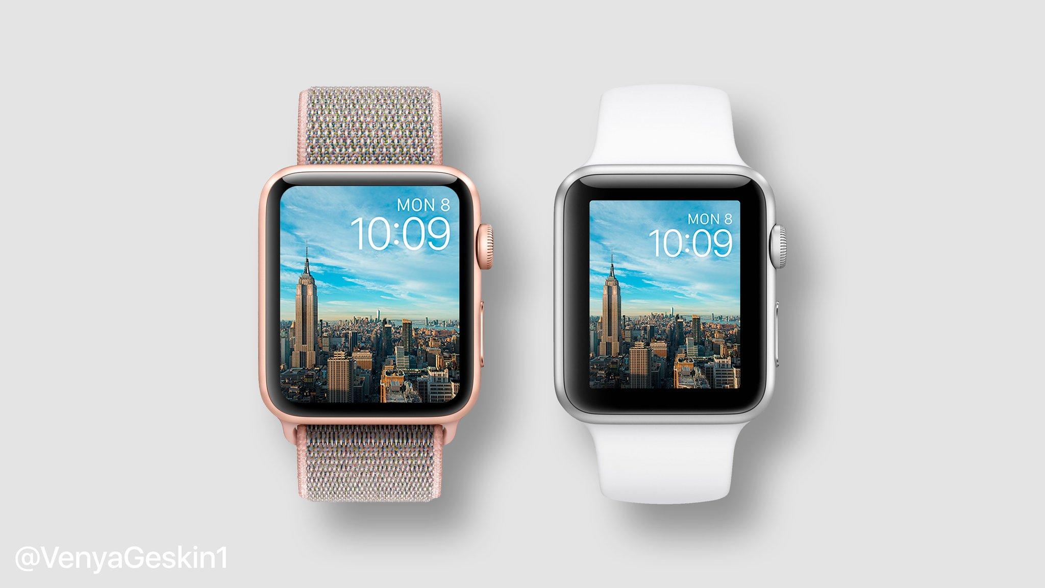 Así quedaría la pantalla de un hipotético Apple Watch Series 4 con pantalla más grande