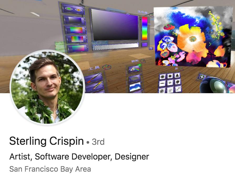 Perfil en LinkedIn de Crispin