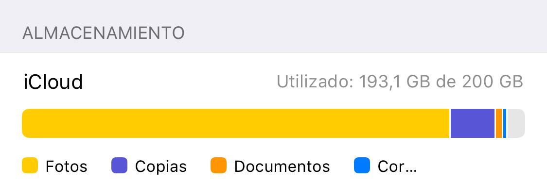 Hemos liberado espacio en iCloud