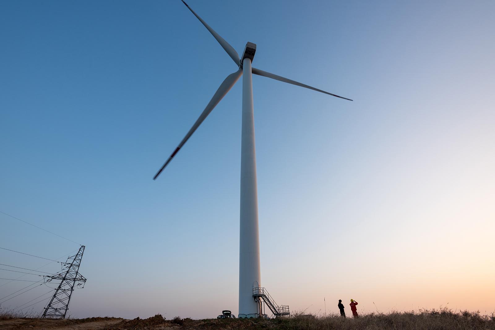 Aerogenerador eléctrico en China
