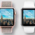 Así quedaría la monitor de un hipotético Apple™ Watch Series cuatro con monitor mas grande