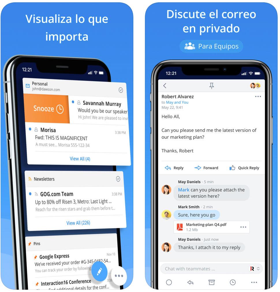 Spark, una de las mejoras Apps de correo electrónico que hay en la App Store