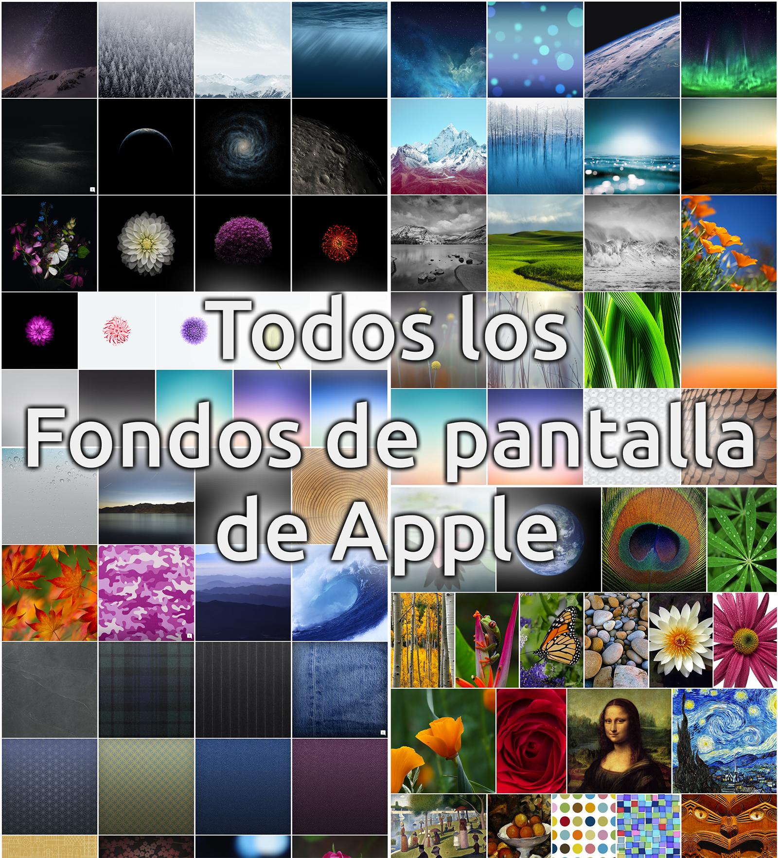 Todos los fondos de pantalla de Apple