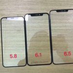 Supuestas piezas de cristal para los recientes prototipos de iPhone que Apple™ podría presentar en el 2018