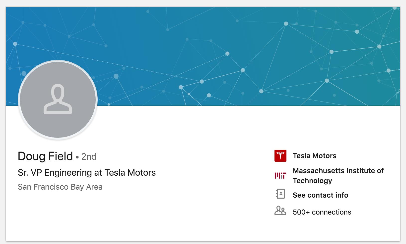 Perfil de Doug en LinkedIn