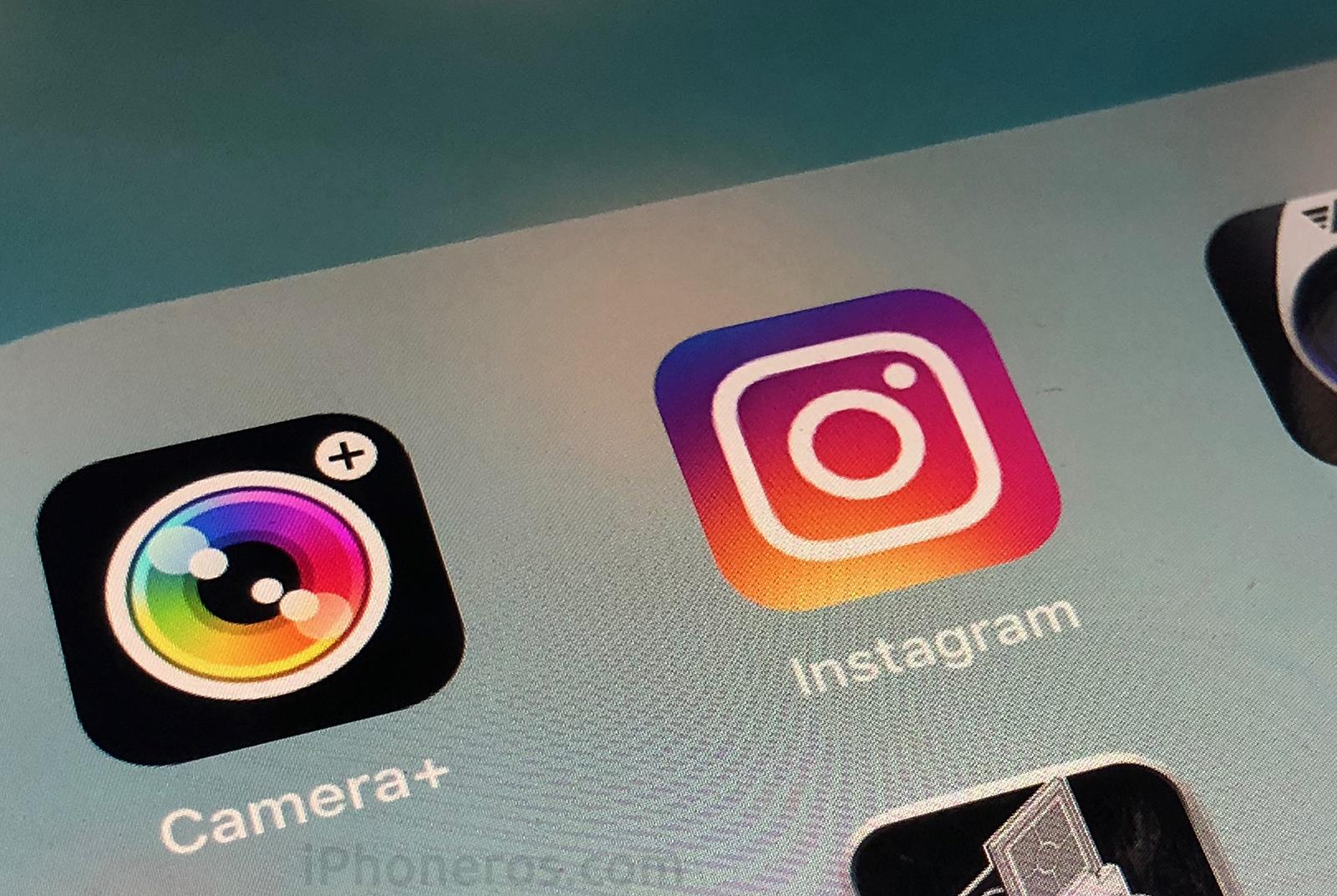 App de Instagram y Camera+
