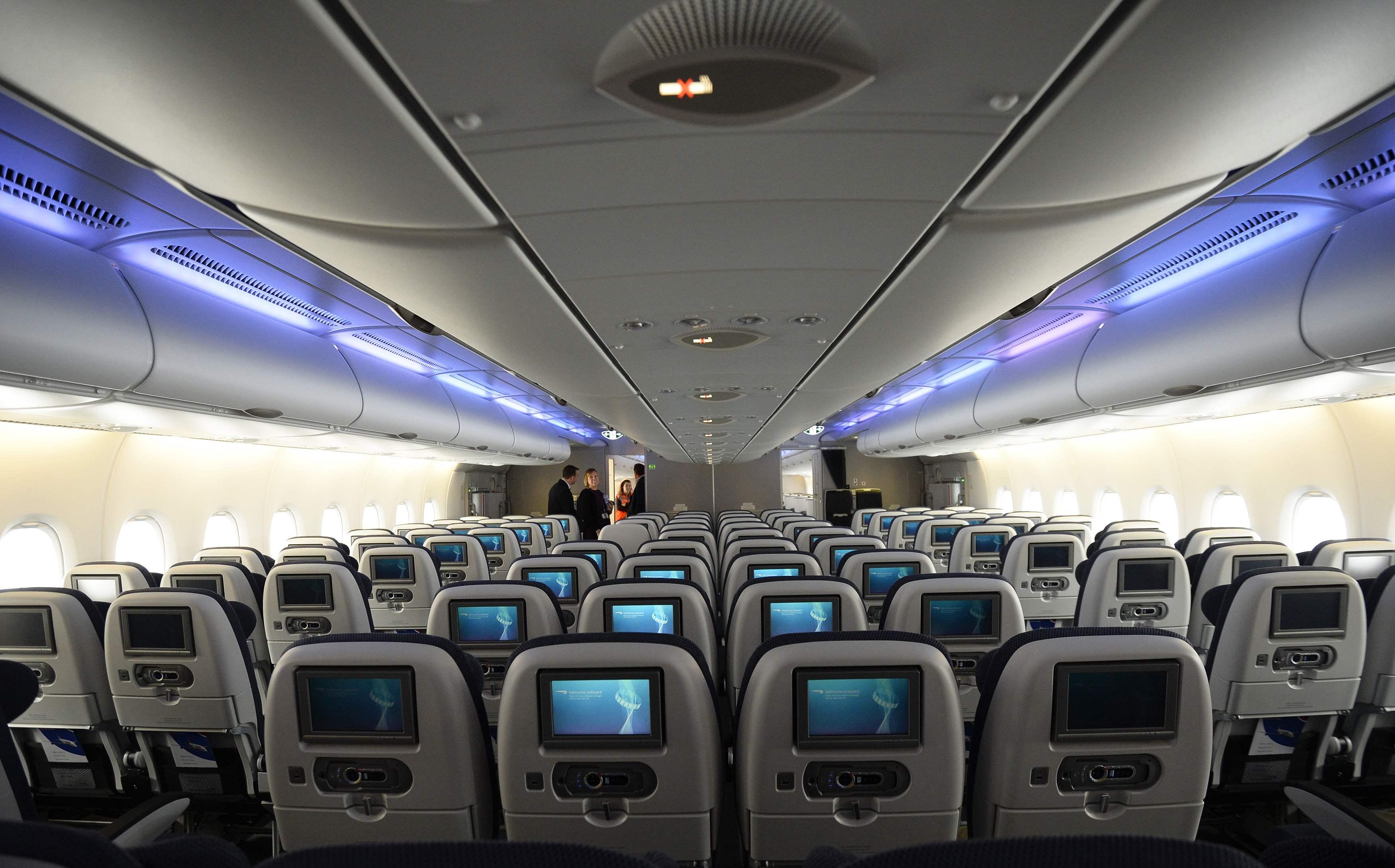 Interior de un Airbus A380 de British Airways