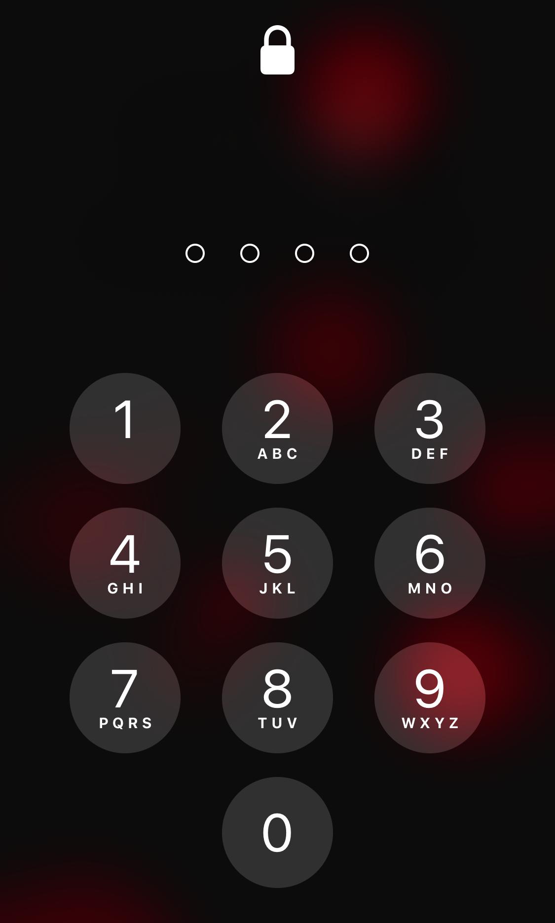 Pantalla de bloqueo en iOS 12