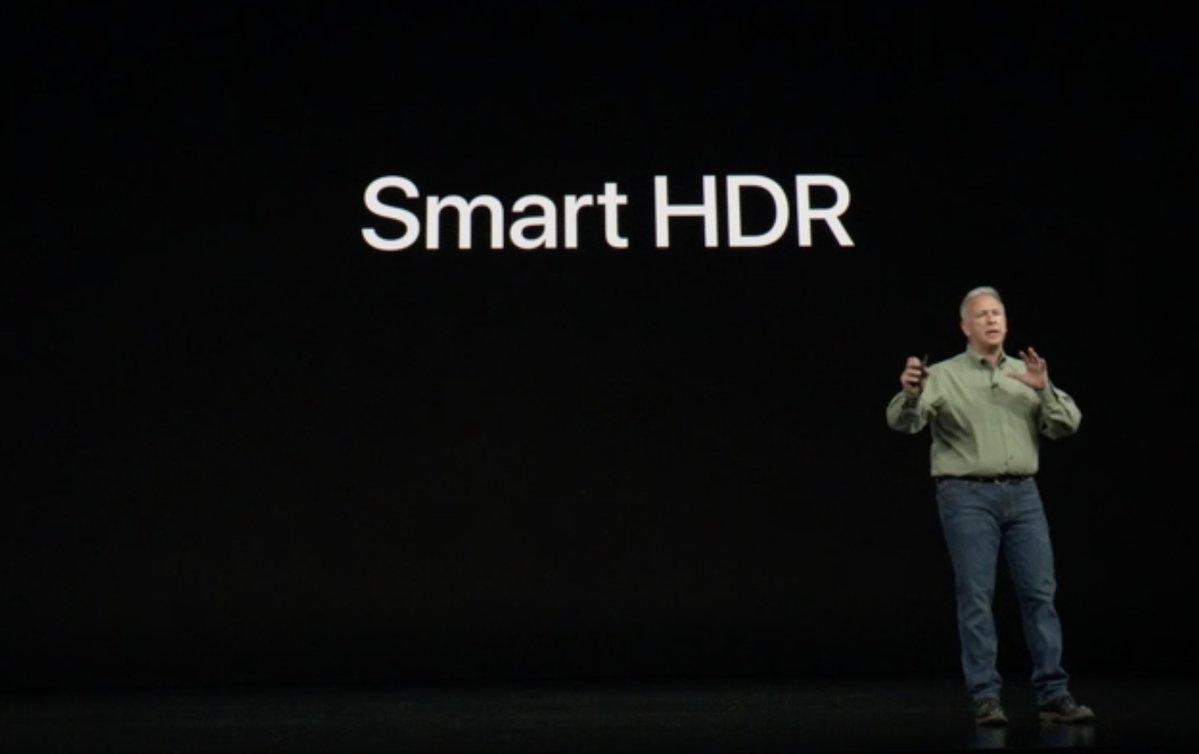 Keynote de presentación del iPhone XS, XS Max y XR - SmartHDR