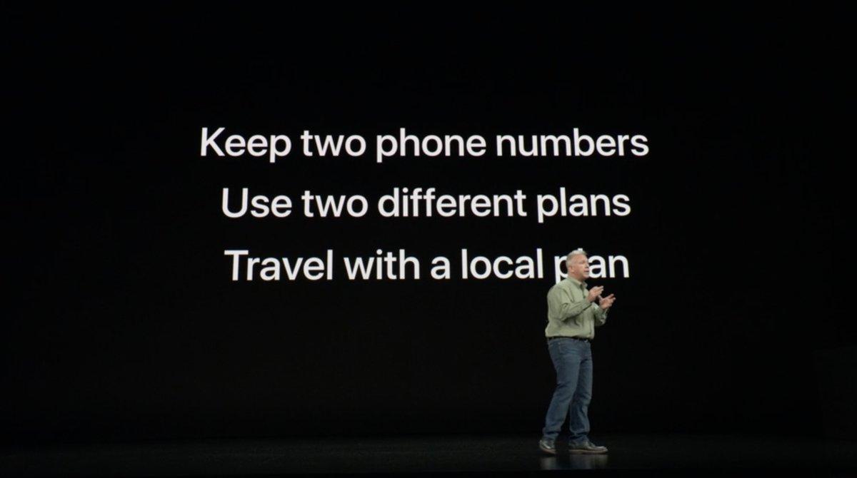 Keynote de presentación del iPhone XS, XS Max y XR - Doble SIM