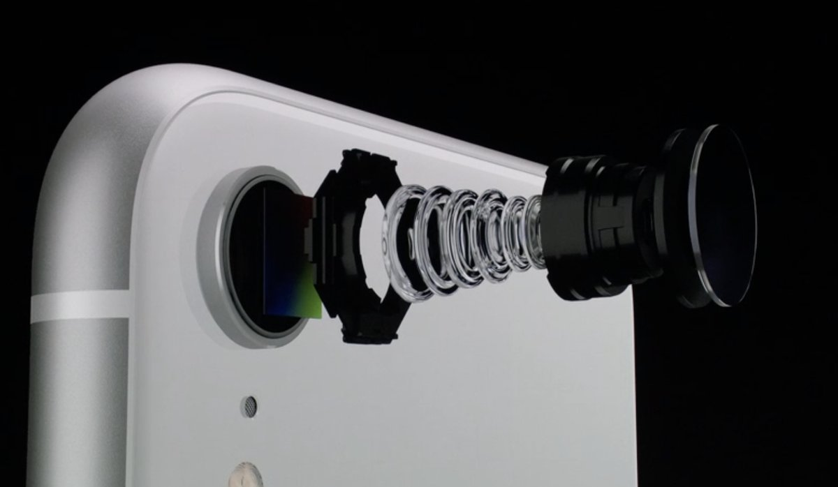 Keynote de presentación del iPhone XS, XS Max y XR - Cámara y lentes iPhone XR