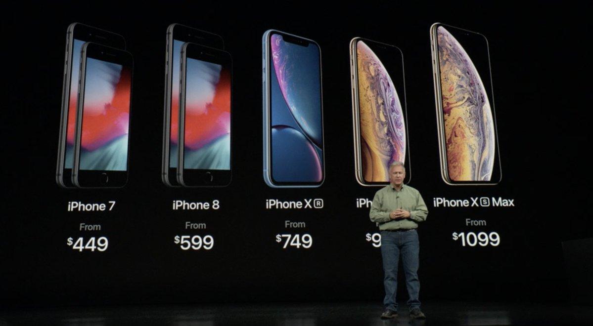 Keynote de presentación del iPhone XS, XS Max y XR - Precios