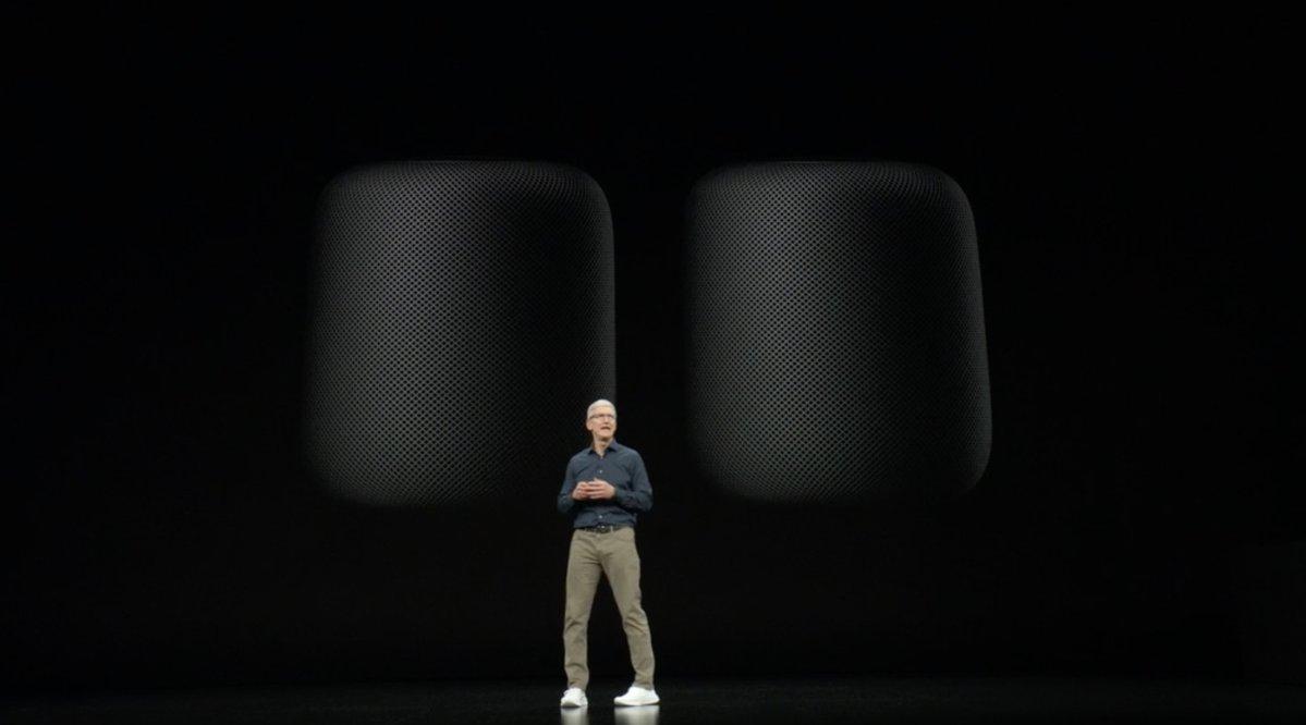 HomePod en la Keynote de presentación del iPhone XS en septiembre del 2018