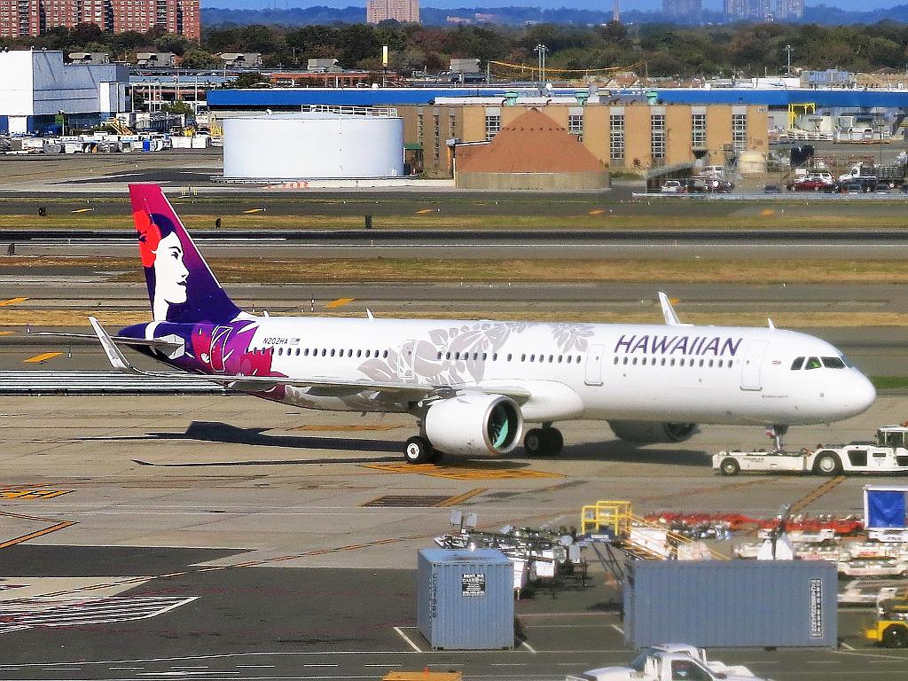 Un avión de Hawaiian Airlines