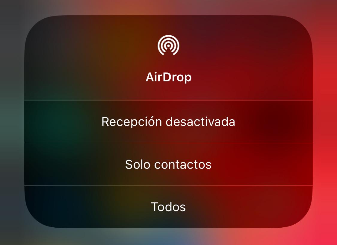 Ajustes de AirDrop en iOS 11