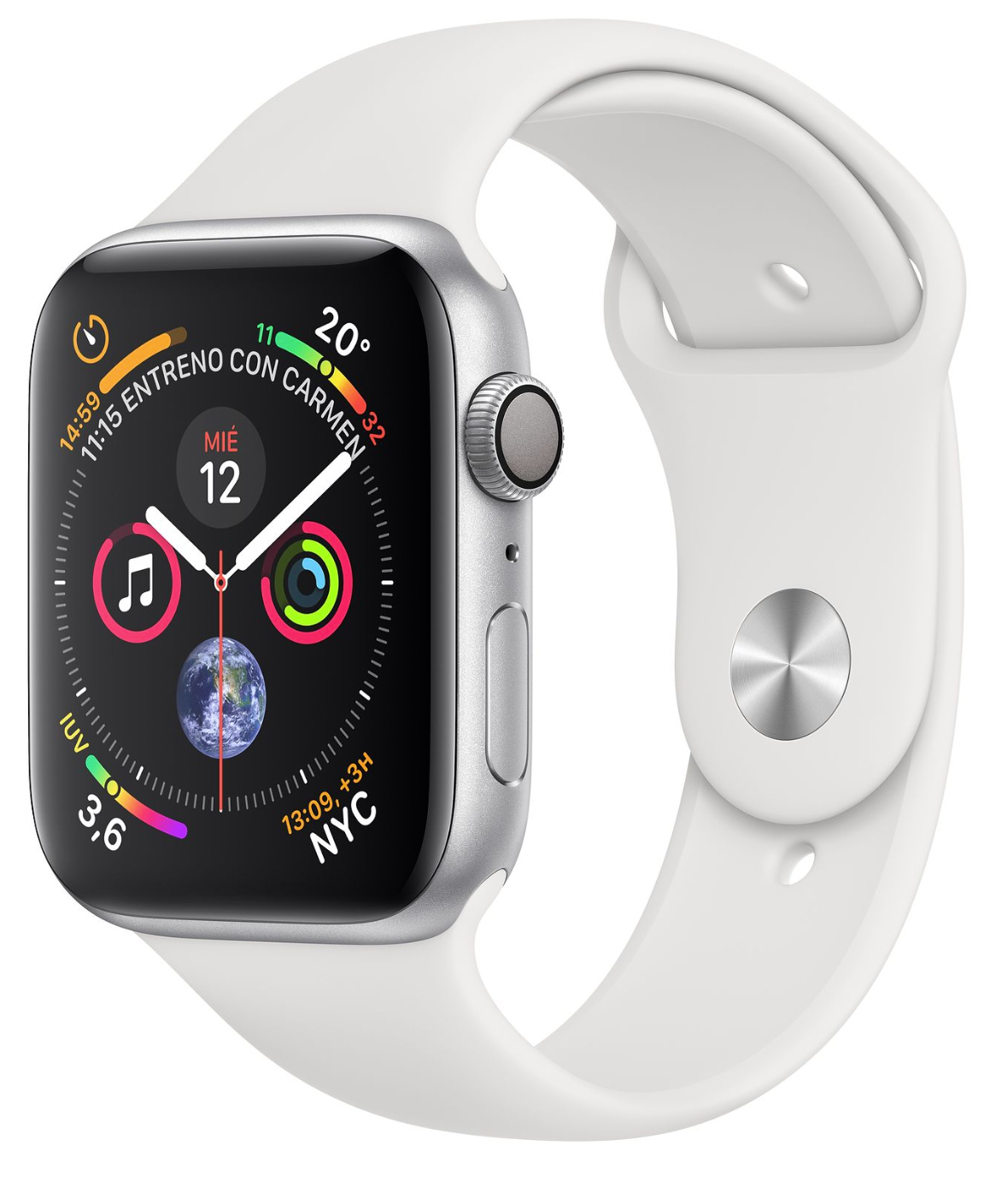 Apple Watch Series 4 en blanco