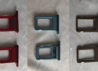 Supuestas bandejas de la tarjeta SIM del iPhone Xc