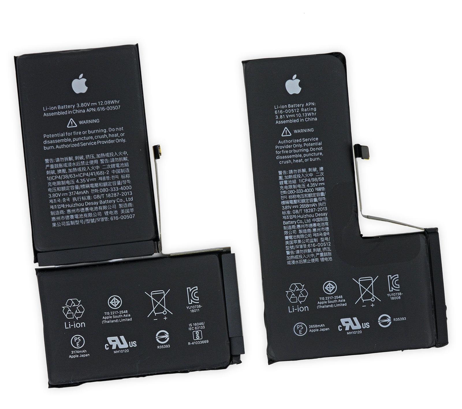 Baterías del iPhone XS y XS Max