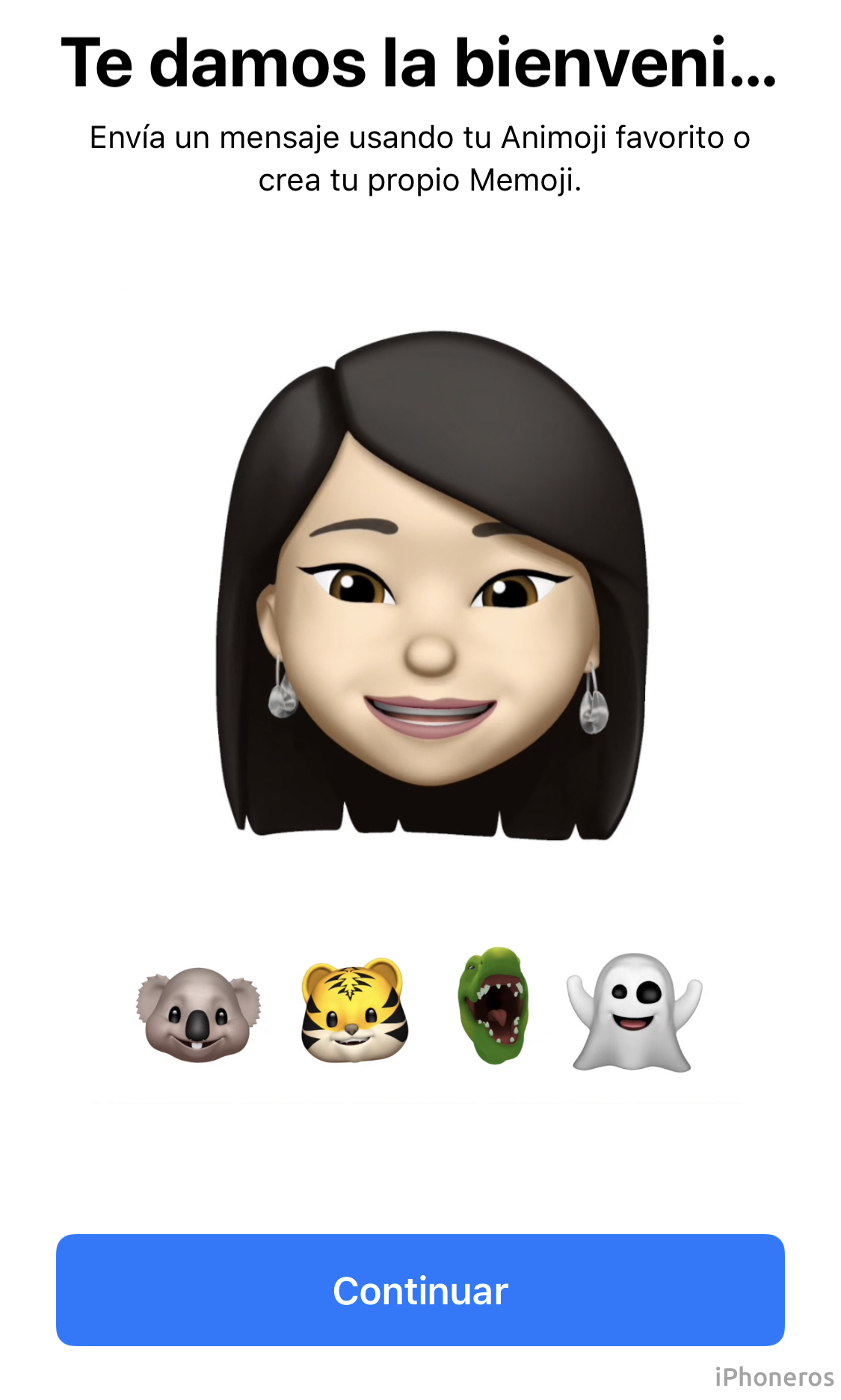Bienvenida a los Memojis en iOS 12
