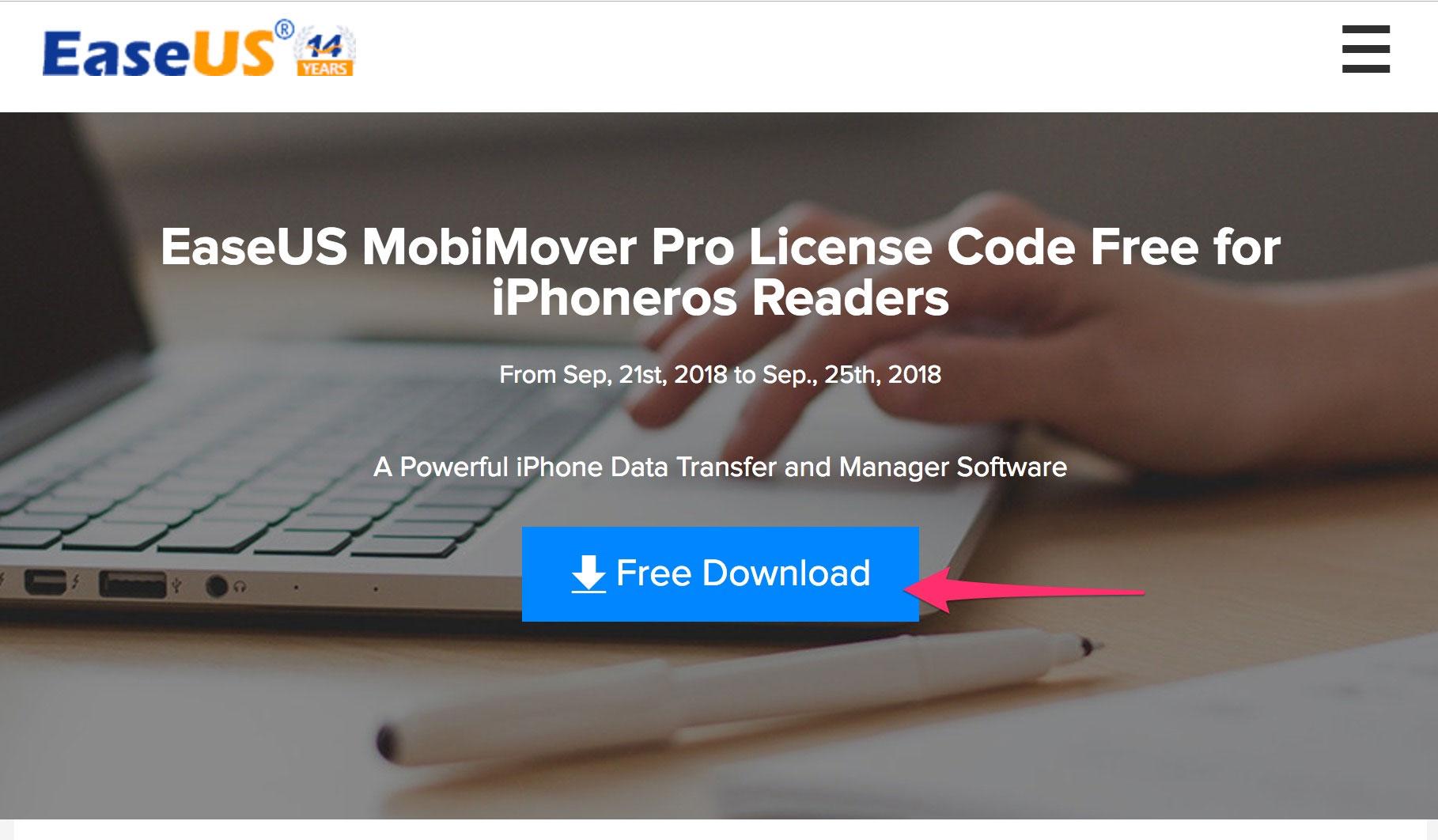 EaseUS MobiMover disponible gratis para los lectores de iPhoneros hasta el día 25 de septiembre