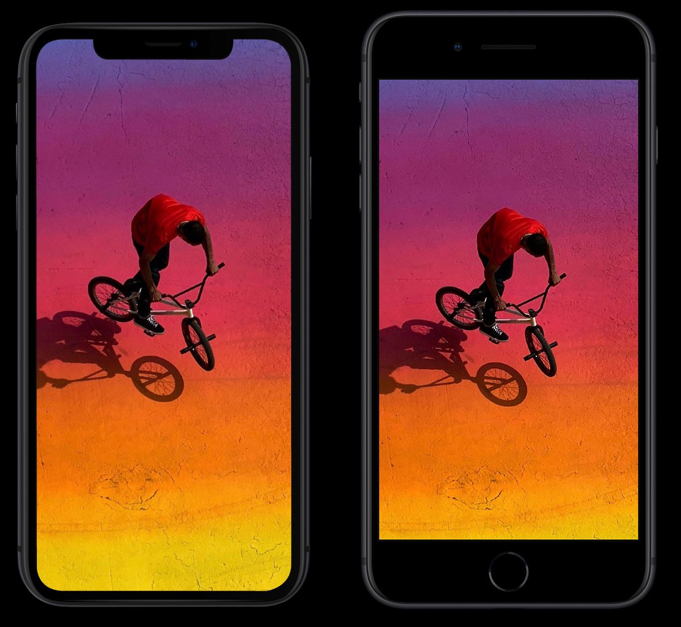 Comparación de tamaños: iPhone XR y iPhone 8 Plus