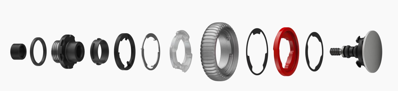 Componentes de la corona o rueda del iPhone Watch series 4