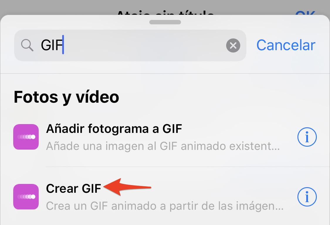 Atajos de Siri: Crear GIF
