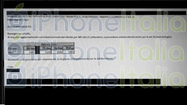 Pantalla de DHL en Italia