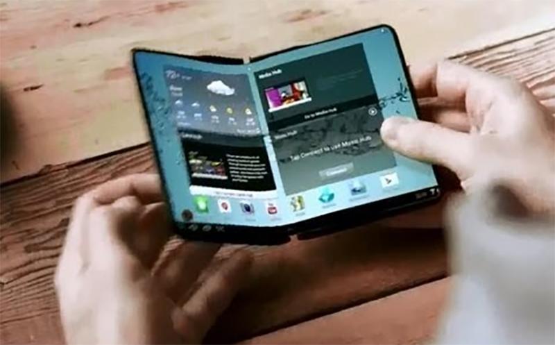 Prototipo de smartphone de Samsung que se dobla
