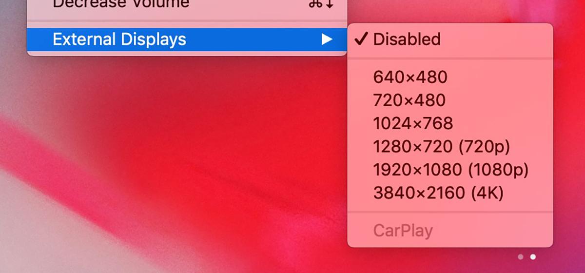 Pantallas externas 4K para conectar a iOS, indicado en el emulador