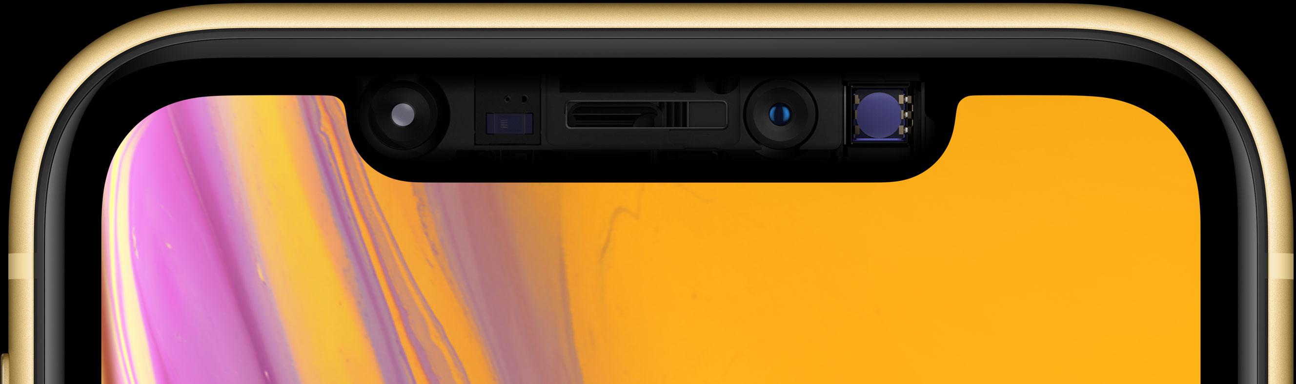 Juego de sensores TrueDepth en un iPhone XR
