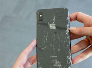 iPhone XS Max con el cristal roto