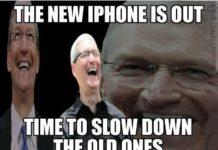 Meme sobre la lentitud de iPhones lentos