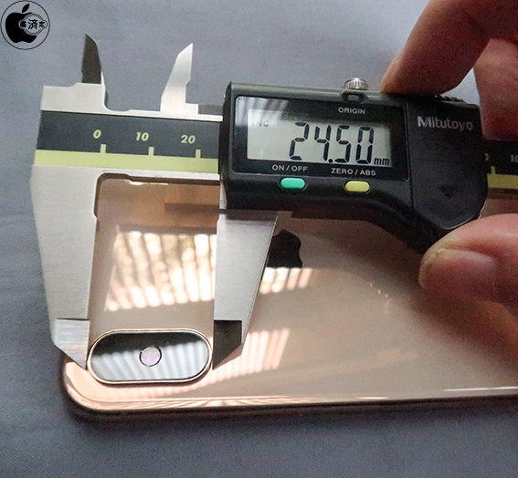 Midiendo la lente de un iPhone XS