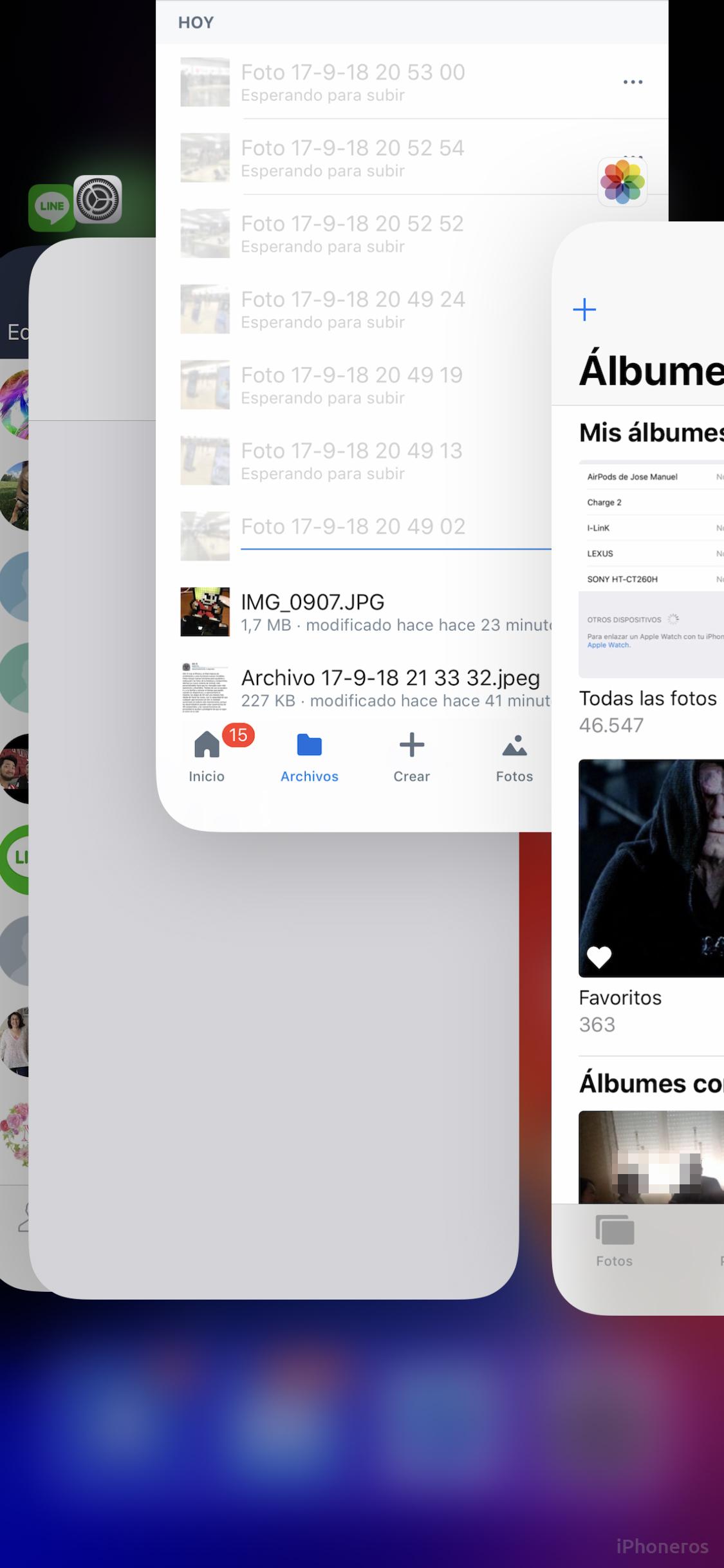 Multitarea en iOS 12