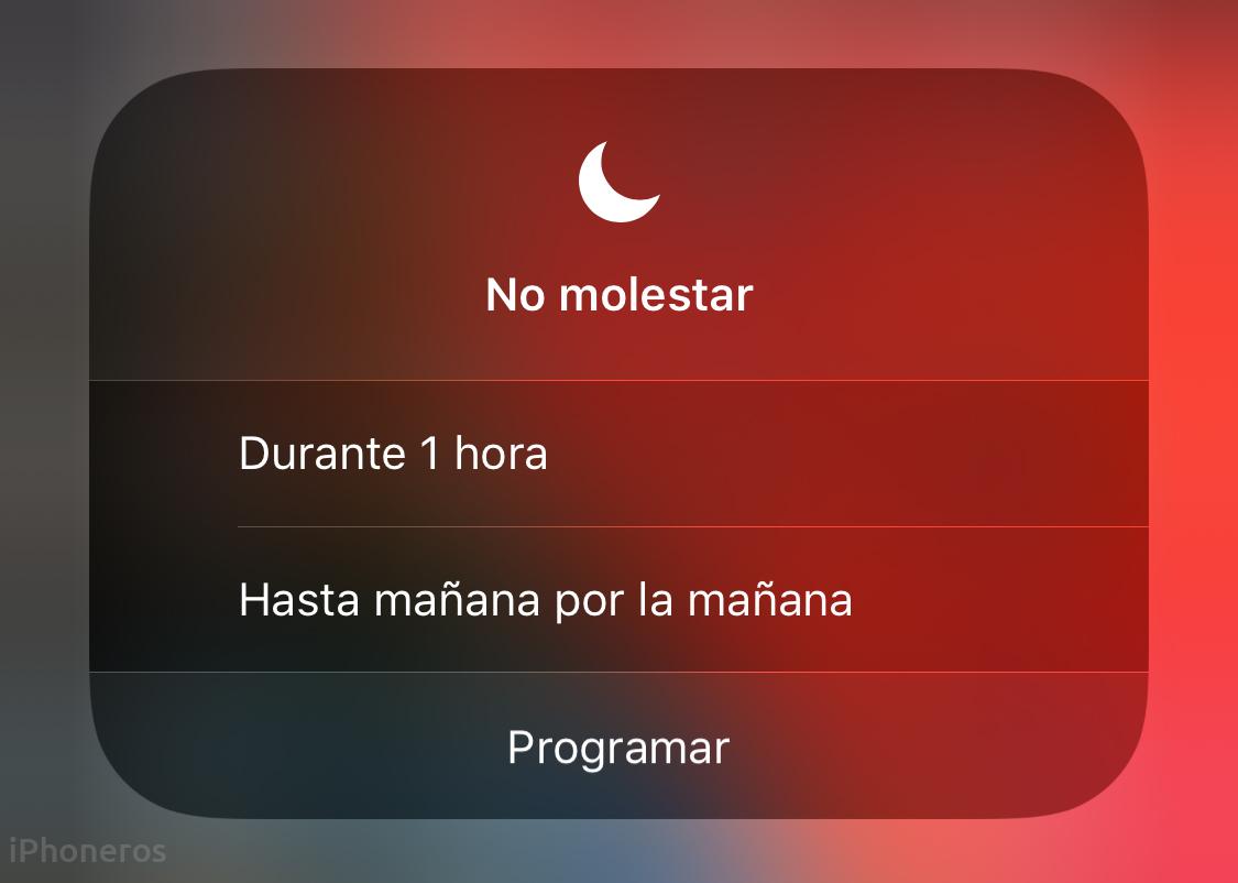 Nuevas opciones de no molestar en iOS 12