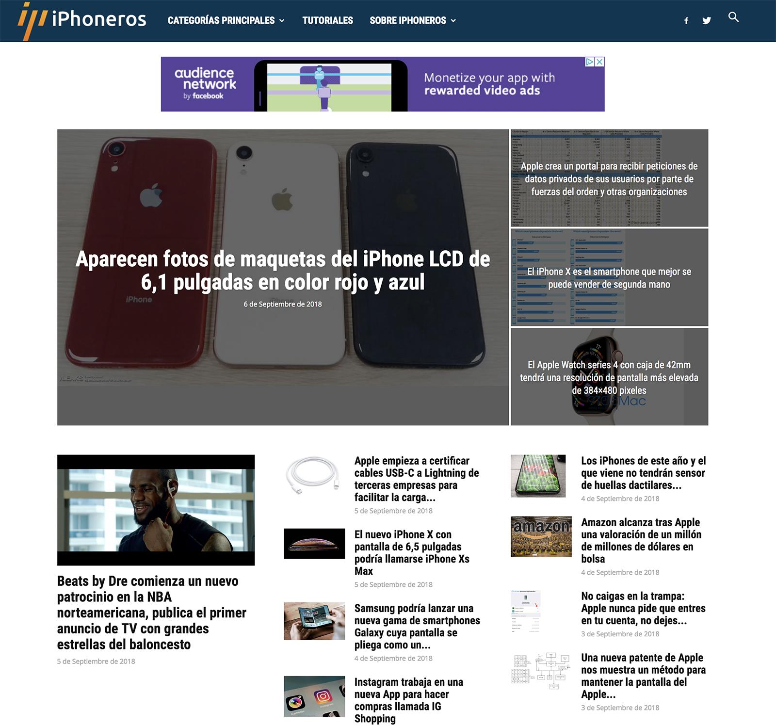 Nuevo diseño de iPhoneros en un ordenador