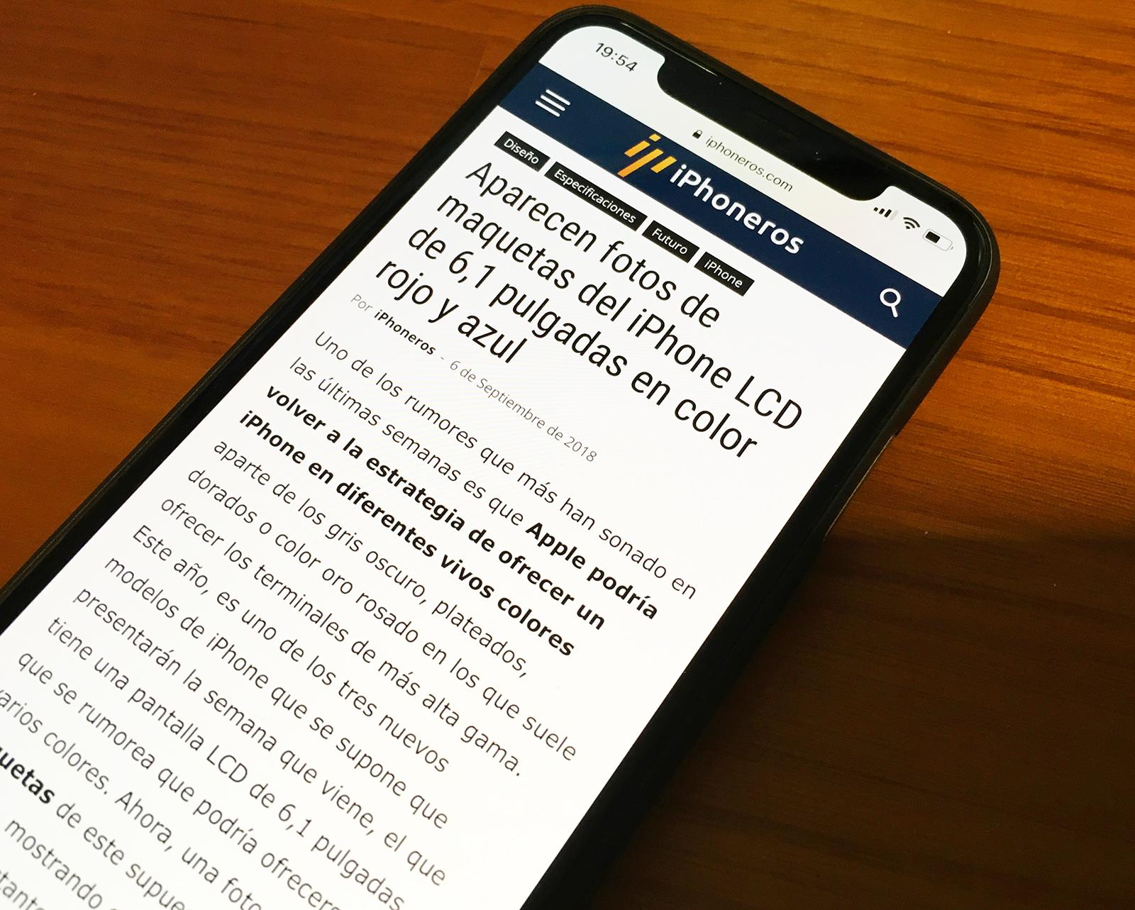Nuevo diseño de iPhoneros en el iPhone X