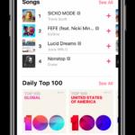 Listas de éxitos mundiales en Apple Music