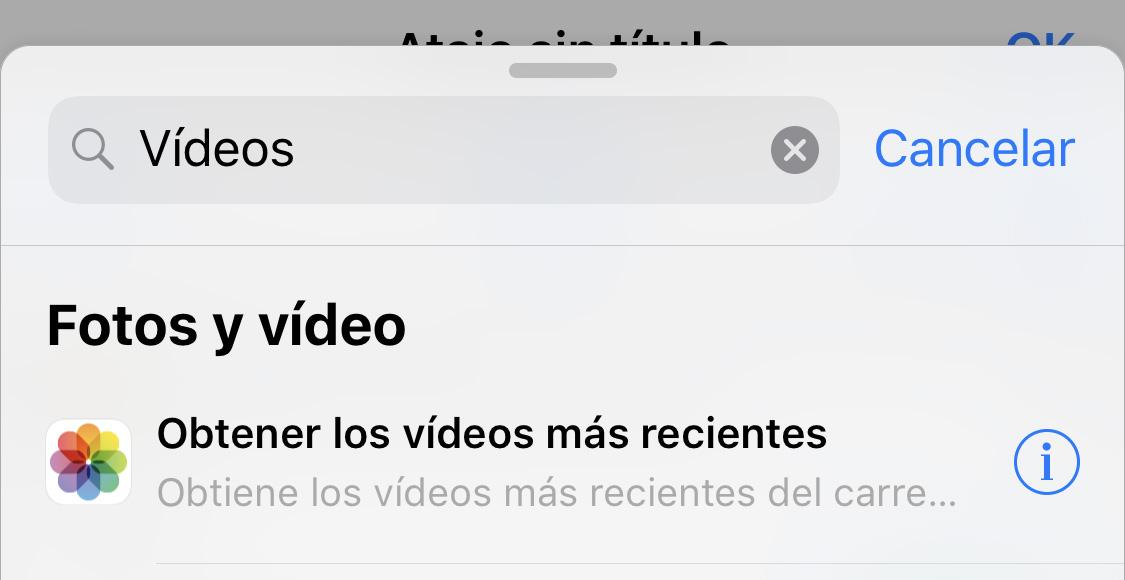 App de Atajos: Obtener vídeos más recientes