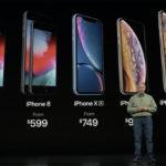 El iPhone XS y XS Max tienen 4 GB de RAM, el iPhone XR 3 GB